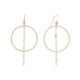 Hoop with GL Dangle Chain Earrings