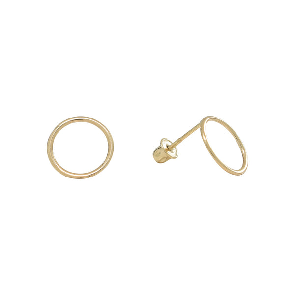 10k Solid Gold Circle Outline Studs