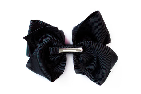 Extra Large Black Hair Bow