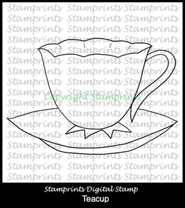 Teacup TLS-1827 (Digital Stamp by Stamprints) Printable.Coloring Art.