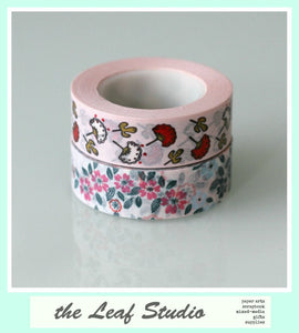 Washi Tape Set of 2 Fun Tape Pink Florals