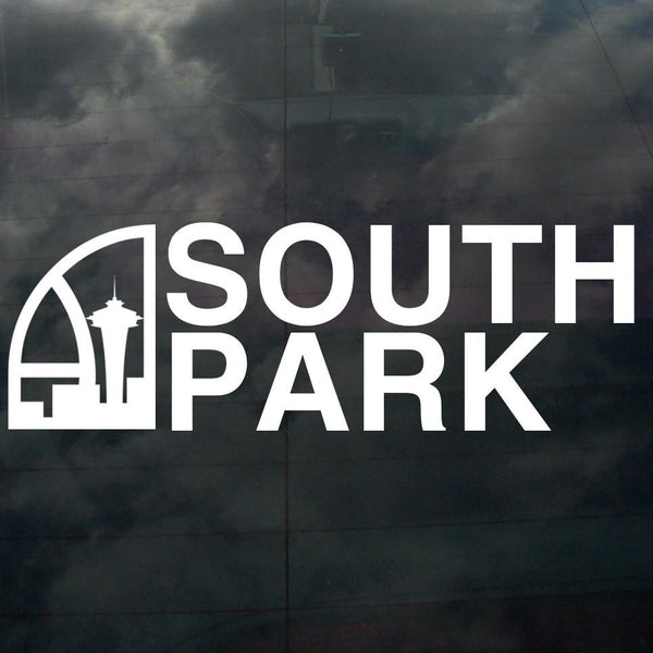 Seattle Super South Park Decal White - Crisis Clothing
