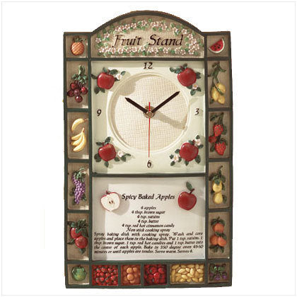 Alabaster Fruit Stand Wall Clock