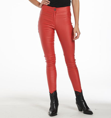BA Waxed Pants, Lipstick Red