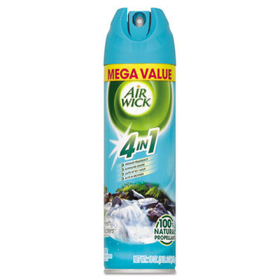 MEGA-SIZE 4 in 1 Aerosol Air Freshener, 18 oz Aerosol, Fresh Waters