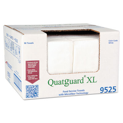 Atlantic Mill Quatguard XL Microfiber Wipers, White