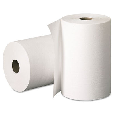 Hard Roll Towels, 8 x 400ft, White