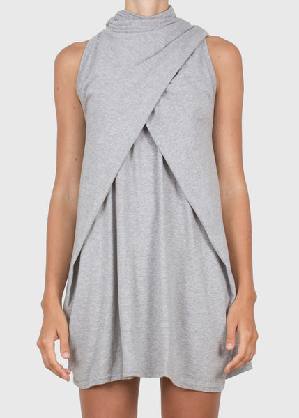 binder strap tank - grey heather