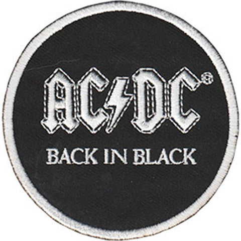 AC/DC Back in Black Round Patch