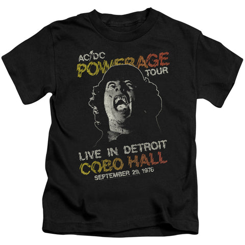 AC/DC Special Order Powerage Tour Juvenile 18/1 100% Cotton Short-Sleeve T-Shirt