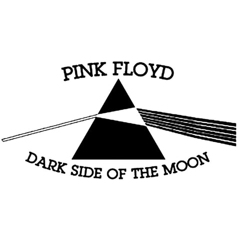 Pink Floyd Dark Side Of The Moon Rub-On Sticker - Black