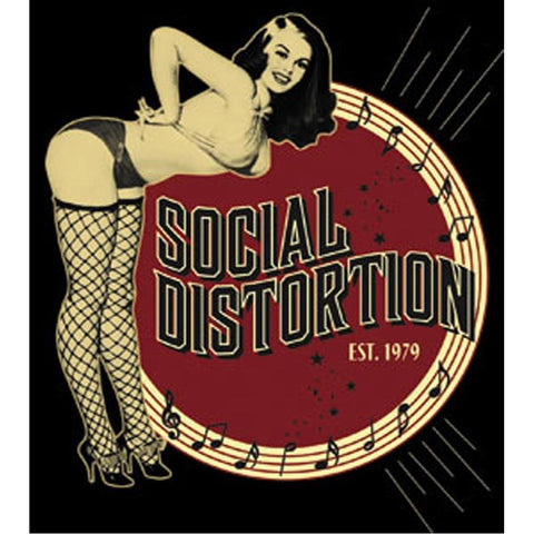 Social Distortion Burlesque Sticker
