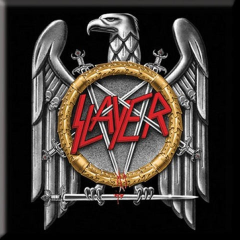 Slayer Silver Eagle Fridge Magnet