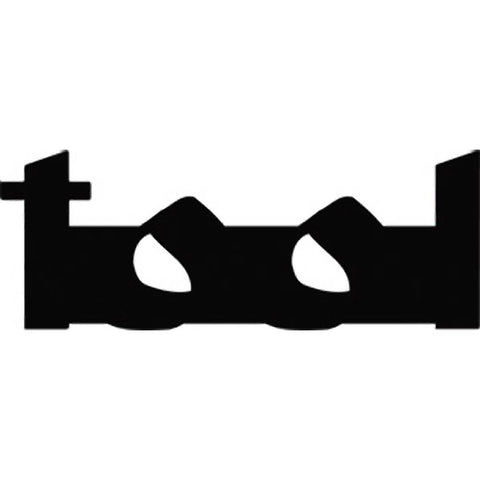 Tool Logo Rub On Sticker - Black