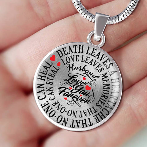Husband Memorial Luxury Pendant Gift In Loving Memory Death Leaves a Heartache Love Memories Necklace