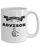 World's Best Advisor Mug Novelty Appreciation Thank You Birthday Christmas Gifts Ceramic Coffee Tea Cup