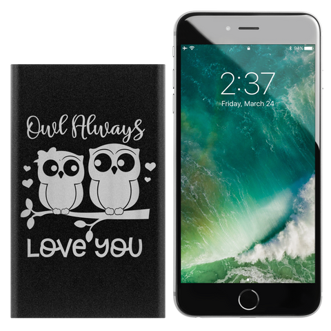 Owl Always Love You Valentine's Day Novelty Birthday Gift Cell Phone Power Bank