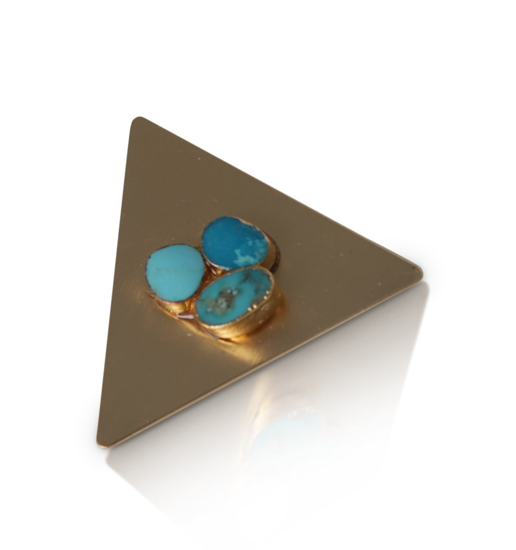 Capshaw turquoise hair clip