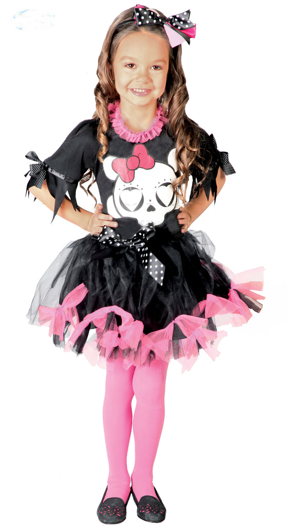 Child Skull Girl Halloween Costume