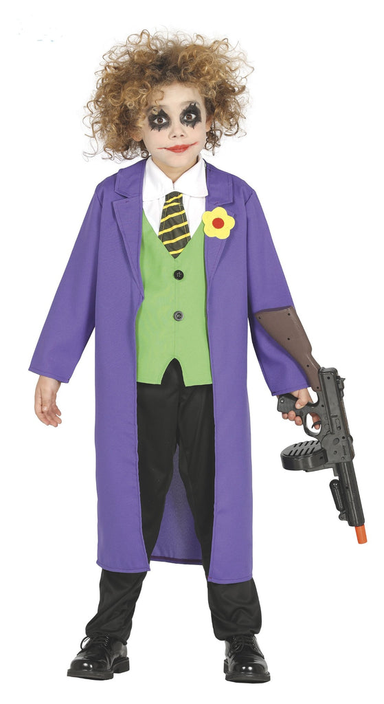 Crazy Clown Children's Joker Costume