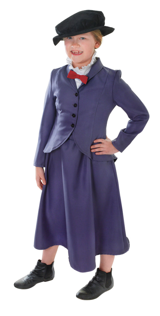 Girls English Nanny Mary Poppins Children's Costume