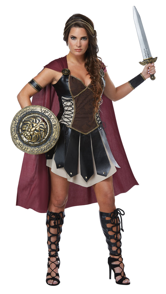 You'll be ready to battle in the arena in this ladies Glorious Gladiator Costume.