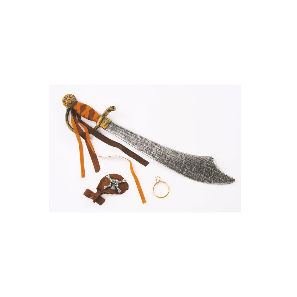 Caribbean Pirate Cutlass and Accessory Kit