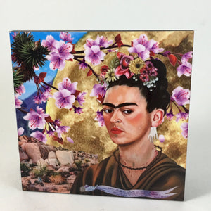 Golden Full Moon Frida Coaster