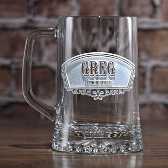 Groomsmen Best Man Gifts. Engraved Beer Mugs