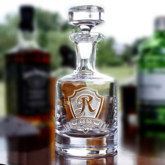 Personalized Engraved Whiskey Decanter