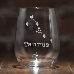 Zodiac Sign, Constellation Stemless Wine