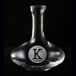 Wine Decanter. Engraved Crystal