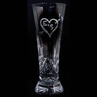 Waterford Crystal Anniversary Gift Pilsners. PAIR