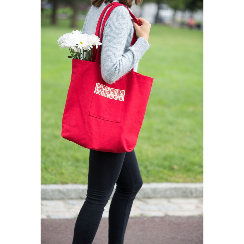 Market Tote Bag, Red