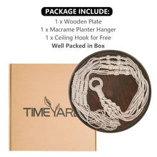 Load image into Gallery viewer, Macrame Indoor Hanging Planter Wall Shelf Hanger