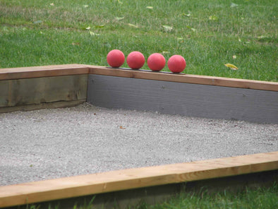 Concrete Perimeters for Bocce Courts