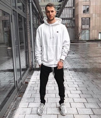 How To Wear and Style a White Hoodie Slim Hoodie