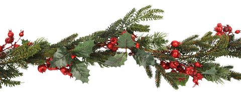 Gisela Graham Red Berry Fir Christmas Garland