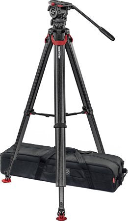Sachtler 0795 System FSB 8 Sideload with Flowtech75 Carbon Fiber Tripod with Mid-Level Spreader and Rubber Feet