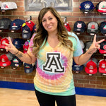 Arizona Wildcat Country Ladies Tie Dye - Pastel Rainbow