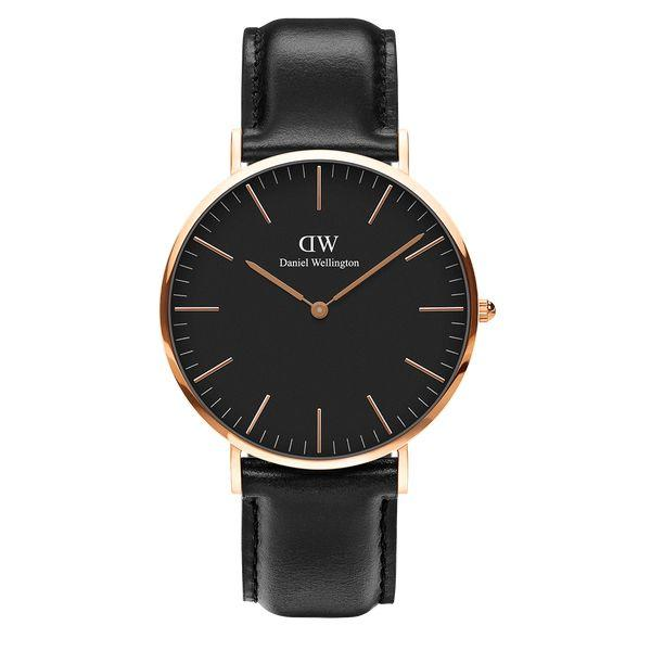 Daniel Wellington CLASSIC BLACK SHEFFIELD 40mm skive-Daniel Wellington-Guldsmed Lauridsen