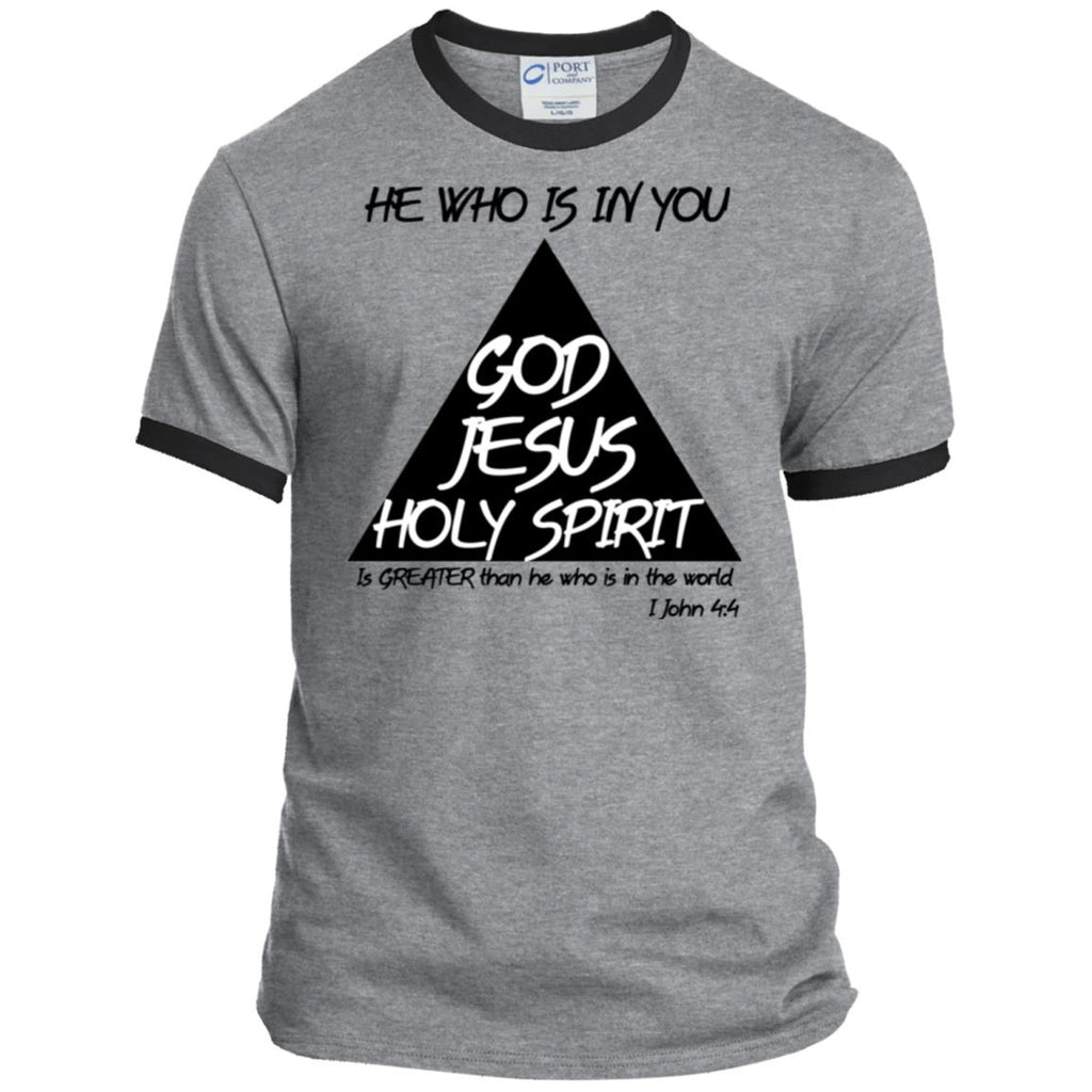 God, Jesus, Holy Spirit - Mens Ringer Tee