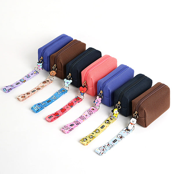 BT21 AIRMESH MINI POUCH WITH STRAP