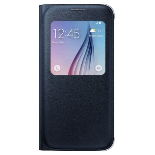 Original Samsung S-View Flip Cover for Samsung Galaxy S6 - Black Sapphire - Equipment Blowouts Inc. Established 2005.