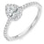 Pear Diamond Halo Ring - WB4484