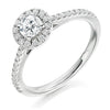 Round Diamond Halo Ring - WB4812