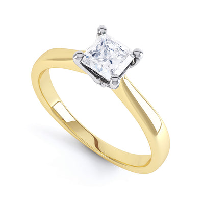 4 Claw Princess Diamond Solitaire Ring - BK1015