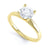 4 Claw Round Diamond Solitaire Ring - BK1020