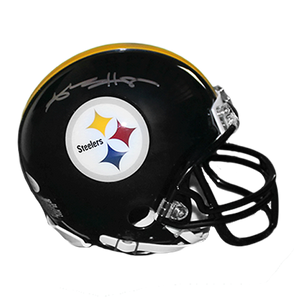 Antonio Brown Pittsburgh Steelers Autographed Football Mini Helmet (JSA COA)