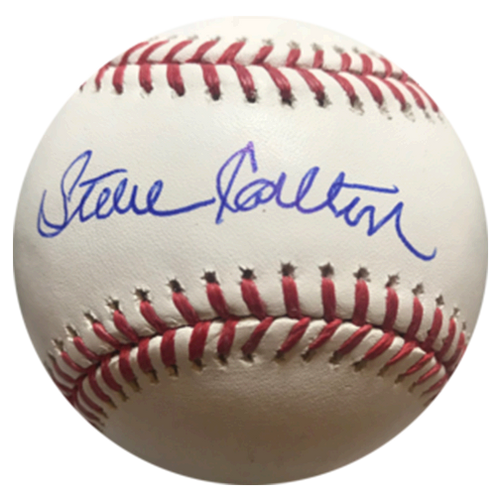 Steve Carlton Autographed Official Major League Baseball (JSA COA)
